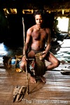 Papua New Guinea Sepik river Black water skin cutting
