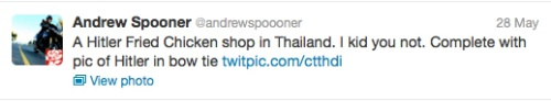 andrew spooner twitted on 28 July 2013
